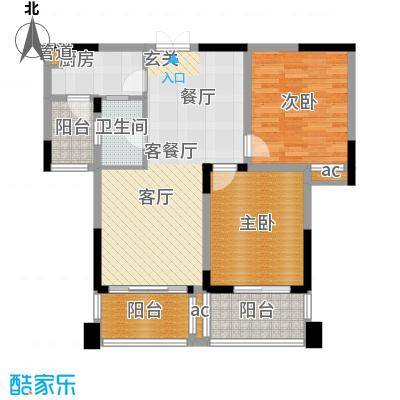 兰庭国际公馆89.00㎡户型