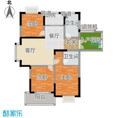 耀城广场133.85㎡多层F面积13385m户型