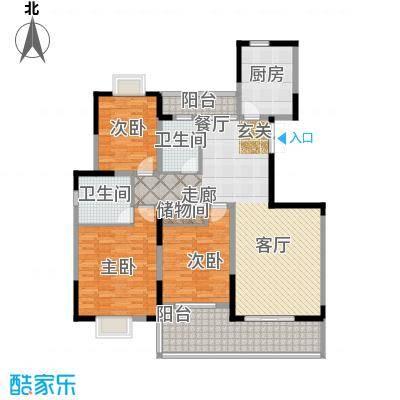 耀城广场143.47㎡多层E面积14347m户型