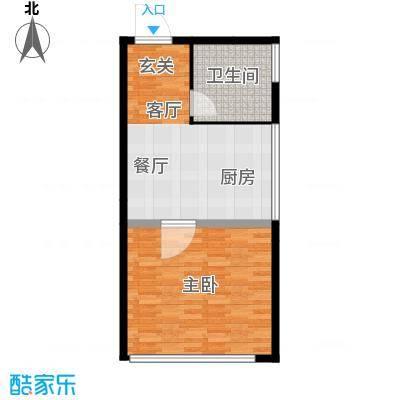 南湖领航壹号59.00㎡单身公寓A户面积5900m户型