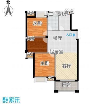 皇马公寓105.00㎡B1-1户型