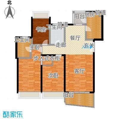 国际中港城148.64㎡7栋4-12F/C、D室户型