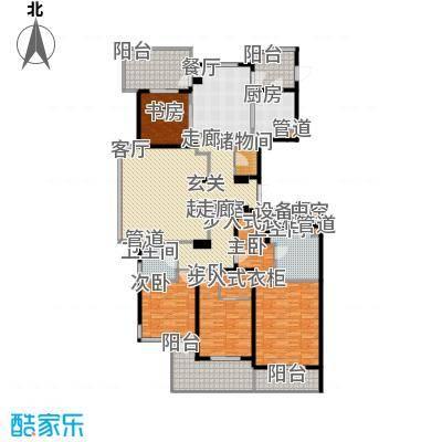 国际中港城238.00㎡紫轩公寓B户型