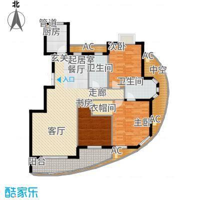 康桥花园三期高层20#、21#、22#东边套奇数层户型