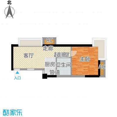 元一柏庄新界53.48㎡81#精装修C户型