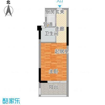 元一柏庄新界53.48㎡81#精装修B户型