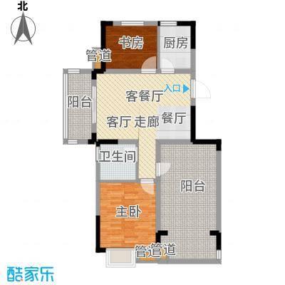 紫园87.65㎡小高层2号、5号楼D1户型