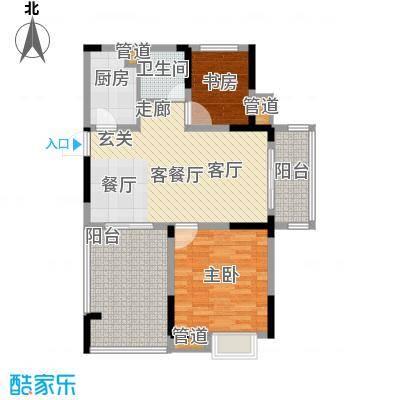 紫园87.88㎡Loft4号楼1单元2室户型
