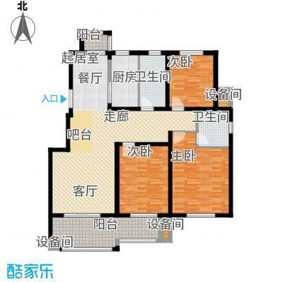 玫瑰恬园137.00㎡高层大B3户型