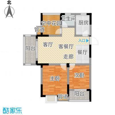 紫园87.66㎡loft4号楼8单元4-18偶数层2室户型