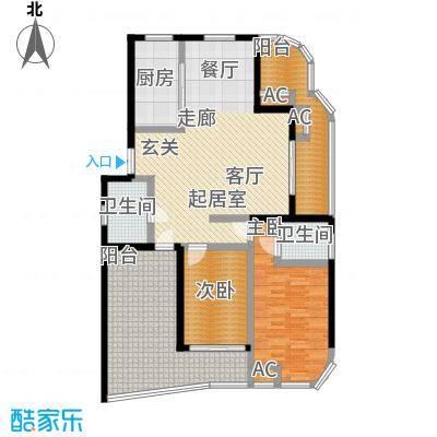 紫金凰庭127.00㎡面积12700m户型