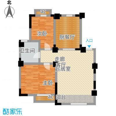 皇都佳苑88.00㎡面积8800m户型