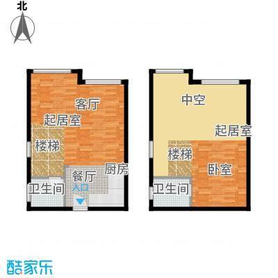 颐高数码港69.80㎡创业风情J-1户面积6980m户型