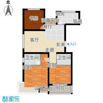 香江名邸108.00㎡高层A11户型