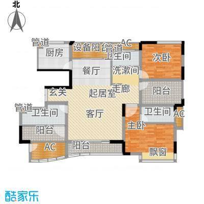 日顺汇锦园137.00㎡6B-1户型