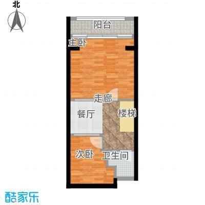 云澜湾50.00㎡2#loft复式楼上户型
