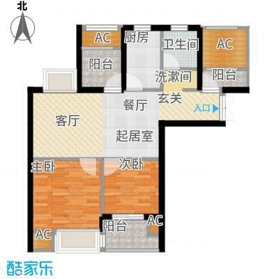 亿丰怡家公馆78.00㎡G4户型