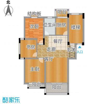 泰河茗苑108.00㎡A31面积10800m户型