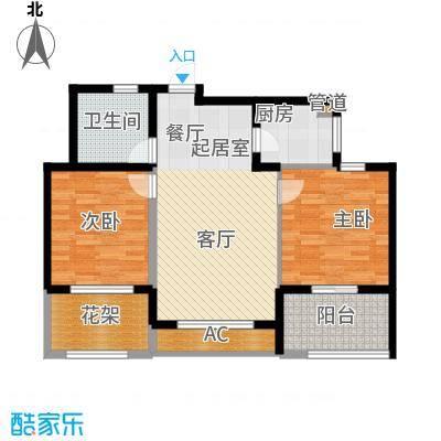 云峰苑85.00㎡高层B2户型