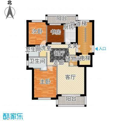 宁兴杭湾名苑125.00㎡B2面积12500m户型