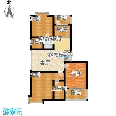 中星新塘家园121.30㎡D53面积12130m户型