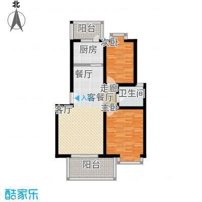 中星新塘家园88.70㎡D12面积8870m户型
