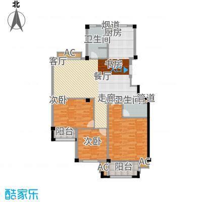 天怡嘉苑136.00㎡高层标准层D面积13600m户型