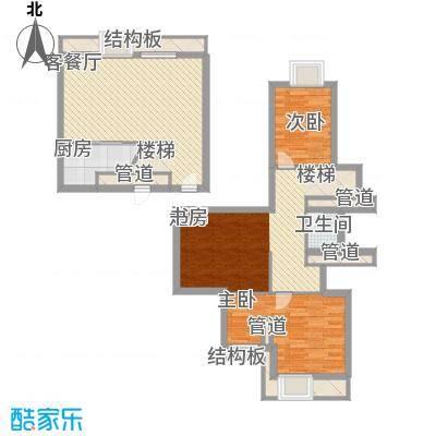 梅龙枫香庭院112.00㎡复式A3面积11200m户型