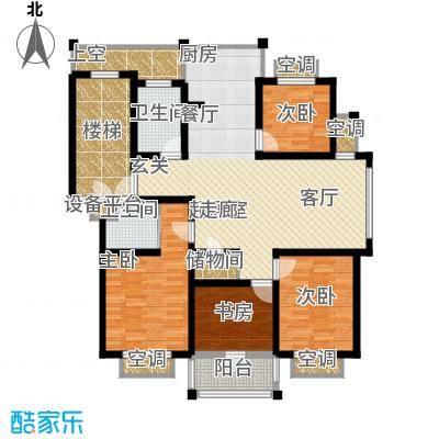 盛泰丹桂苑127.00㎡标准层D2面积12700m户型
