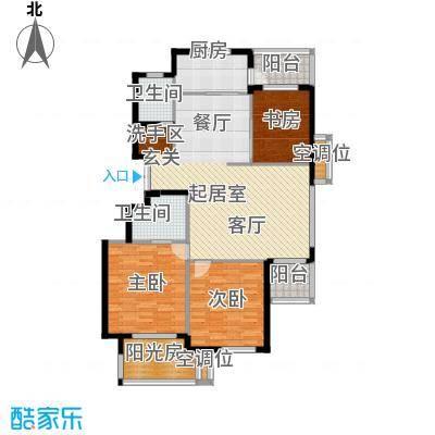 金府华庭127.00㎡13#楼小高层标准面积12700m户型