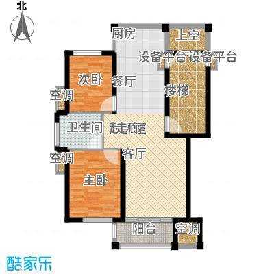 盛泰丹桂苑84.00㎡标准层C1面积8400m户型