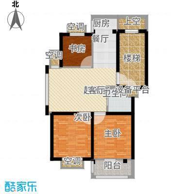 盛泰丹桂苑88.00㎡标准层D4面积8800m户型