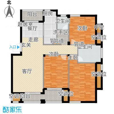 香水湾141.00㎡5号楼东边标准层户型