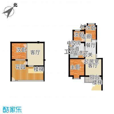 红墅湾87.05㎡情景洋房1层+地下面积8705m户型