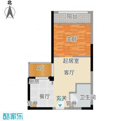 宁海世贸中心62.00㎡标准层C面积6200m户型