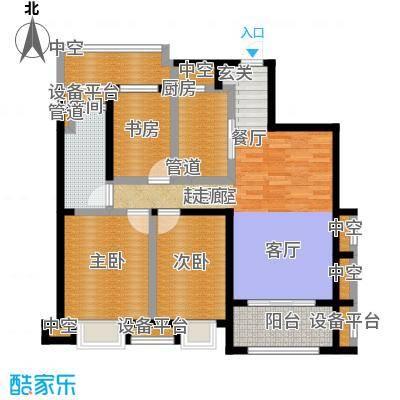 世茂首府103.00㎡5、7#楼中间套标准层户型