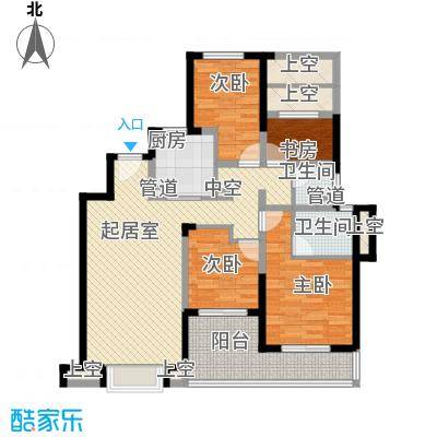 景瑞上府137.00㎡洋房2层户型