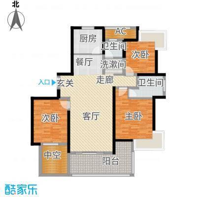 永利中央公馆135.81㎡4号楼3C1户型