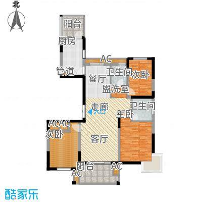 锦江半岛136.30㎡户型