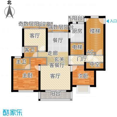 宝业大坂风情142.00㎡15号楼A3户型