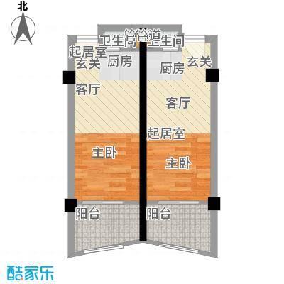 九龙晟景43.15㎡海景户型