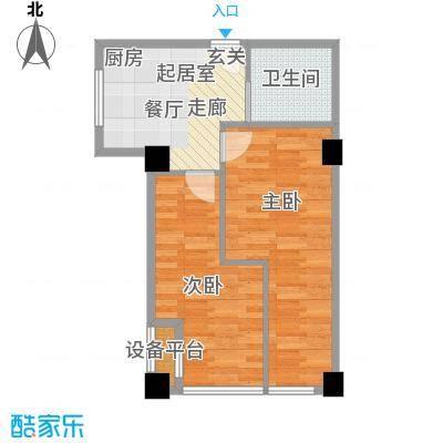 瓜渚5号48.00㎡a1户型