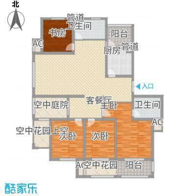 清江嘉园191.79㎡3#4#楼C户型