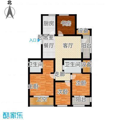 宏盛锦江玫瑰园132.25㎡C6户型