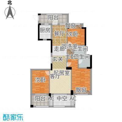 海星御和园138.00㎡D区6号楼F户型