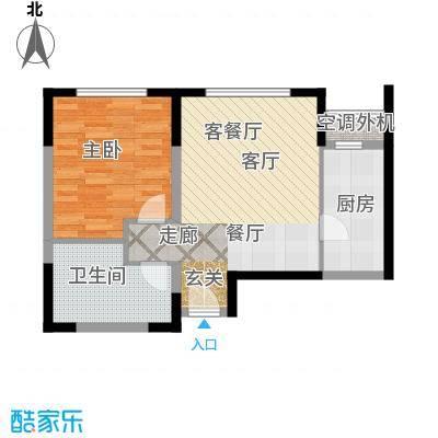 中冶昆庭户型1室1厅1卫1厨