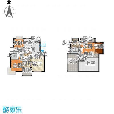 赛格国际公寓209.50㎡B户型 4房2厅3卫 209.5平米户型4室2厅3卫