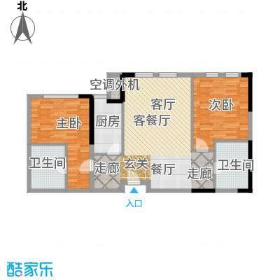 中冶昆庭户型2室1厅2卫1厨