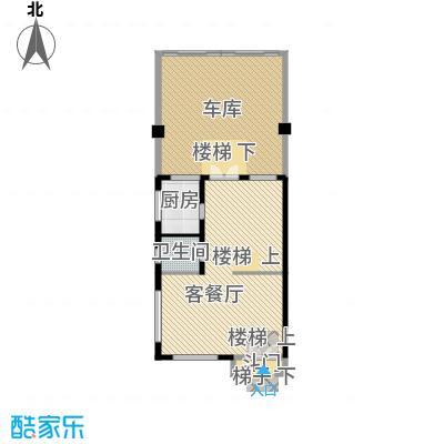 佳兆业珊瑚湾别墅213.44㎡联排A-2一层户型1厅1卫1厨