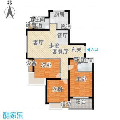 都市文涛苑139.00㎡34幢标准层E1面积13900m户型